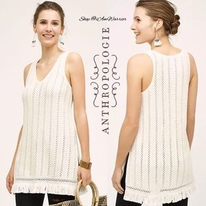 Anthropologie {Knitted & Knotted} fringe tunic
